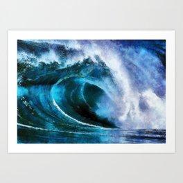 Rolling wave Art Print