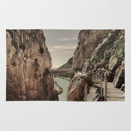 """The most dangerous trail in the world II"". El Caminito del Rey  Rug"