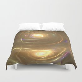 Reflection of a Whirpool of Paint Duvet Cover