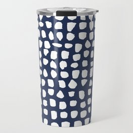 Dots / Navy Travel Mug