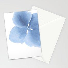 Pansy Flower. Big blue flower Stationery Cards
