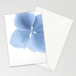 Pansy Flower. Big blue flower Stationery Cards