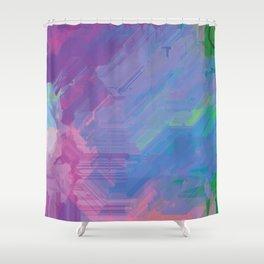 Glitchy 2 Shower Curtain