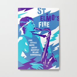 80s TEEN MOVIES :: ST. ELMO'S FIRE Metal Print