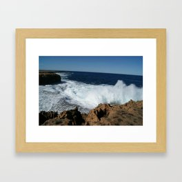 King waves kill Framed Art Print