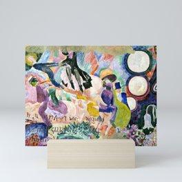 """Robert Delaunay """"Carousel of Pigs (Fr: Manege de cochons)"""" Mini Art Print"""