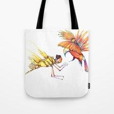 Holiday drawings:  Dragonfly & Bird of paradise Tote Bag