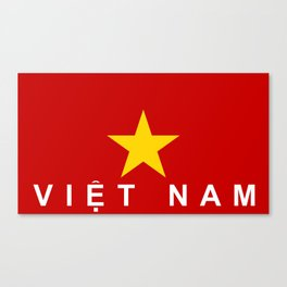 vietnam country flag viet nam name text Canvas Print
