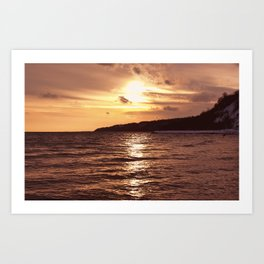 Scarborough Bluffs in Winter on December 27th, 2020. XIV Art Print