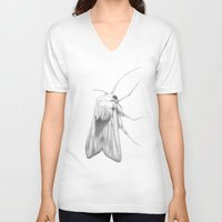 moth V-neck T-shirts featuring Moth  by Bonnie Durham