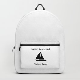 Never Anchored Sailing Free Lake and Ocean Travel Backpack