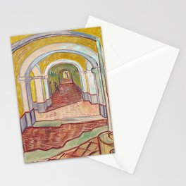 Corridor in the Asylum, Vincent Van Gogh Painting Stationery Cards