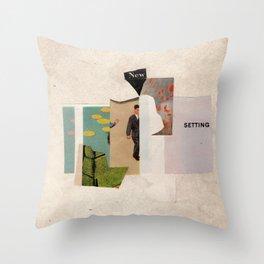 new setting Throw Pillow