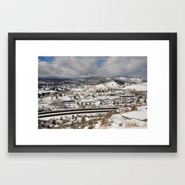 Prescott view in the winter Framed Art Print