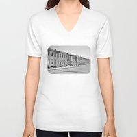 baltimore V-neck T-shirts featuring East Baltimore by Andrew Mangum