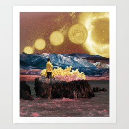 Space yellow signs Art Print