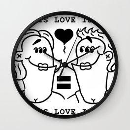 Equali-Tees: Lady's Ladies Wall Clock