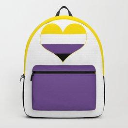 Gender Non-Binary Heart Backpack
