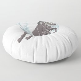 Horse horses gift pony mare stallion riding Floor Pillow