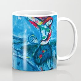 Lovers Over Paris, France landscape painting by Marc Chagall Coffee Mug