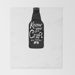 Know Your Craft Throw Blanket