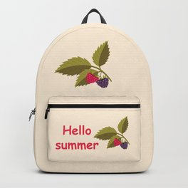 sprig with raspberry Backpack