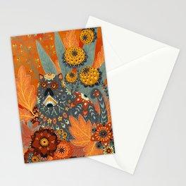 Foliage Cat Stationery Cards