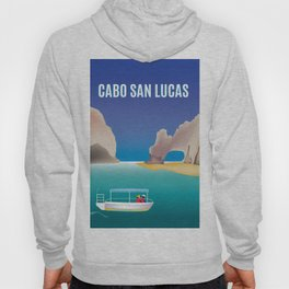 Cabo San Lucas, Mexico - Skyline Illustration by Loose Petals Hoody