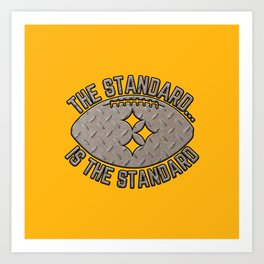Pittsburgh Football The Standard 412 Steel City Pride Gold Art Print