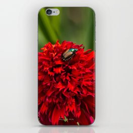 Red Flower And Beetle iPhone Skin
