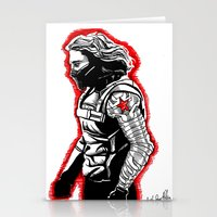 winter soldier Stationery Cards featuring Winter Soldier by Lydia Joy Palmer