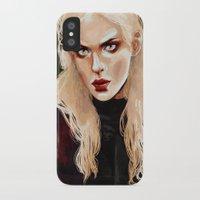 warrior iPhone & iPod Cases featuring Warrior by Feline Zegers