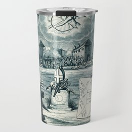 Raphael's Prophetic Almanack: a tombstone, an earthquake, and riotous assembly (1826) Travel Mug
