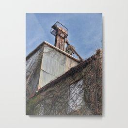 Abandoned Feed Mill - Backside Colorful Metal Print