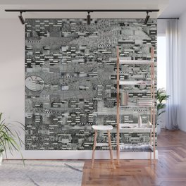 Highly Resolved Ghost (P/D3 Glitch Collage Studies) Wall Mural