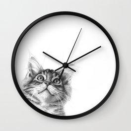 Kitten looking up G115 Wall Clock