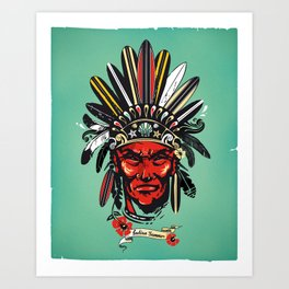 THE INDIAN SUMMER Art Print