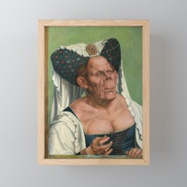 A Grotesque old woman by Quentin Matsys 1513 Framed Mini Art Print