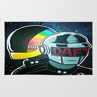 daft punk Area & Throw Rugs featuring Daft Punk by Alexis Pilato