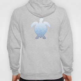 Gradient blue and white swirls doodles Hoody