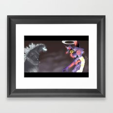 A King and A God Framed Art Print