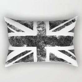 Black UK flag Rectangular Pillow