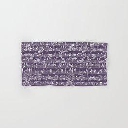Hand Written Sheet Music // Honey Flower Hand & Bath Towel