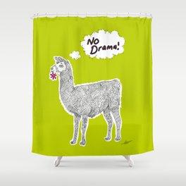 No Drama Llama Shower Curtain