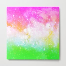 Fun and Bright Space Metal Print
