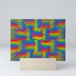 Electrified Rainbow Mini Art Print