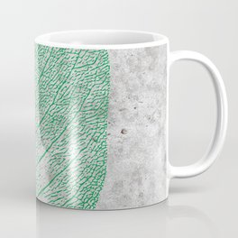 Natural Outlines - Leaf Green & Concrete #774 Coffee Mug