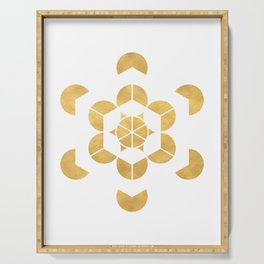 HEXAHEDRON CUBE sacred geometry Serving Tray