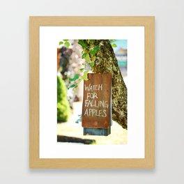 Falling Apples Framed Art Print