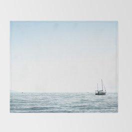 BOAT - WATER - OCEAN - SEA - PHOTOGRAPHY Throw Blanket